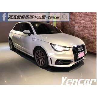 FB搜尋【阿彥嚴選認證車-Yencar】'13年Audi A1 Sport版 白 、進口車、可全貸、中古車、二手車
