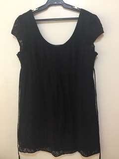 Dorothy Perkins size UK 14 black lace dress