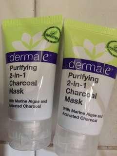 DERMA•E Purifying 2 in 1 Charcoal Mask (2x 14g)