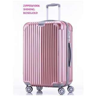 Two pcs Rimowa similar-look travel luggage 24inches zipper frame& 20inches zipper frame