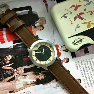 Dual time unisex watch