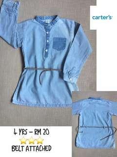 Carters - 4yrs - Denim dress