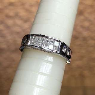 18kt princess cut diamond ring 公主方鑽石戒指