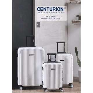 CEN百夫長白☆CENTURION☆行李箱航空城 網路最低價 現貨 白色 經典款 行李箱/旅行箱 22.26.29吋