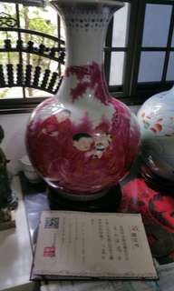 Antique vase with certificate by ( 韩细梅 )