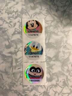 迪士尼印花3個