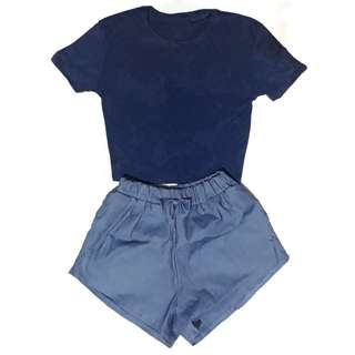 BUNDLE: Women's Ribbed Top and Shorts