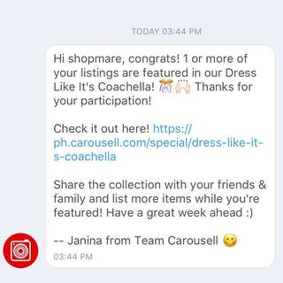Thank you, Carousell!