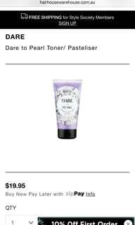 DARE TO PEARL toner / pasteliser