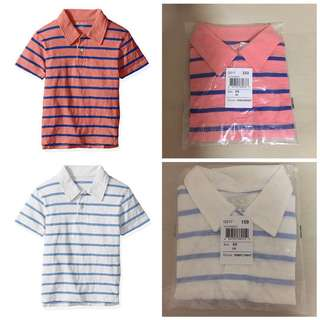 SALE 50% Off - 2 for $14 - 4 years BNWT The Children's place boy striped polo tee