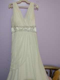 White formal long gown Mav studio