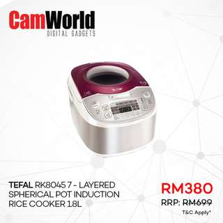Tefal RK8045 7-Layered Spherical Pot Induction Rice Cooker 18L