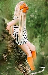 🍀Baby Girl Sleeveless Striped Casual Mini Dress🍀