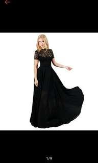 Lace Chiffon Evening Formal Long Dress