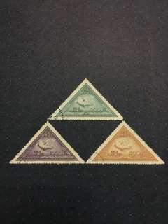 1951中國人民郵政C10 SC #108-110 白鴿郵票全套CTO 己蓋銷