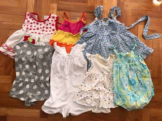 Baby dresses and rompers 6M to 18M