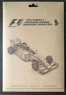 2016 F1 SIA Singapore Grand Prix Car Model