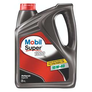 Mobil Super 1000 x2 15W-40 Mineral Engine Oil (4L)