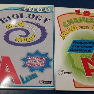 Advanced level Biology and Chemistry questions bank