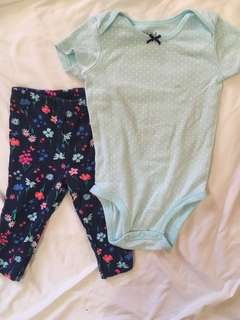 Carters Set onesie and leggings