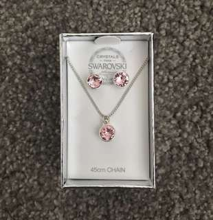 crystal earrings & necklace set