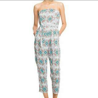 Country Road Strapless Jumpsuit