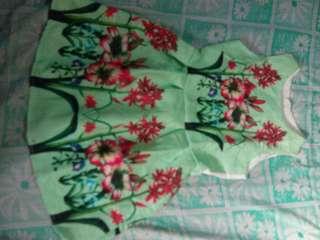 Apple green dress