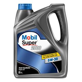 Mobil Super 2000 5W-30 Semi Synthetic Engine Oil (4L)