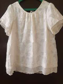 (A1) Long Top With Lace Detailing