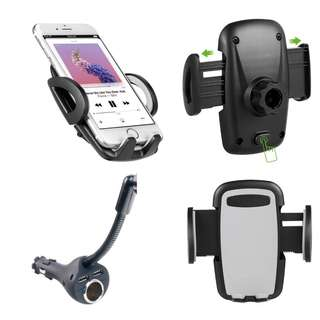 Universal Car Mount with USB Charger For Smartphone iPhone 6/7 Plus Samsung