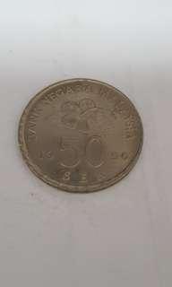 1990 Malaysia 50 Sen