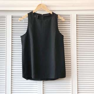 Mango Black Sleeveless Shirt