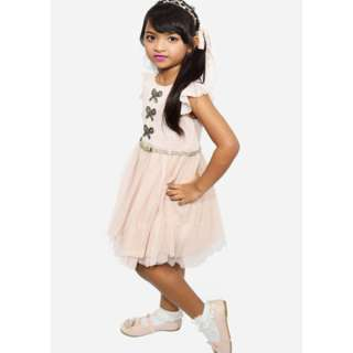 Tulle dress with beaded rhinestones