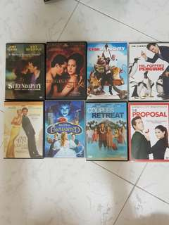 8 DVD Movies ( B set )