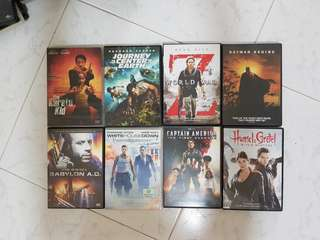 8 DVD Movies ( A set )
