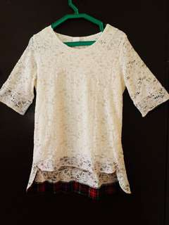 Long Top With Lace Detailing