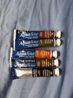 Daler Rowney aquafine watercolour tubes