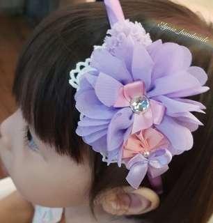 Purple hairband