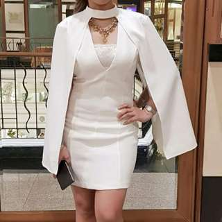 Formal white cocktail dress