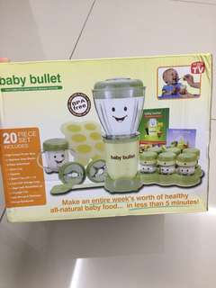 REDUCED PRICE :Baby Bullet Food Processor