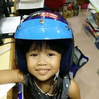 MV Star Racing Kod Children Helmet Topi Keledar Kanak Kanak Biru Blue Sirim Size 57