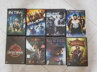 8 DVD Movies( D set )