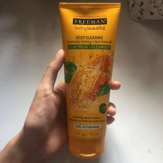 REPRICE! Freeman Deep Clearing Manuka Honey + Tea Tree Oil Clay Mask