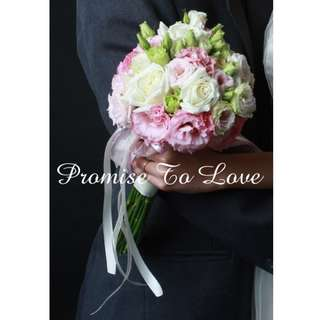 Fresh Flowers Bridal Bouquet (Wedding / ROM/ Engagement/ Bridesmaid / Proposal/ Anniversary)