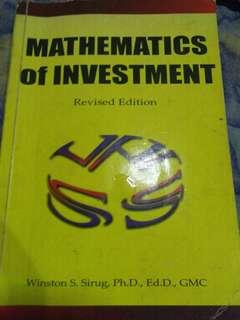 Math of Investment,NSTP,etc
