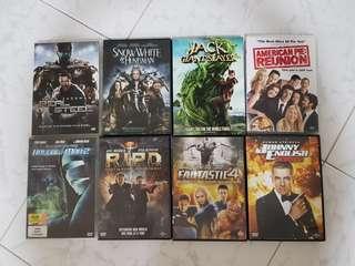 8 DVD Movies ( E set )