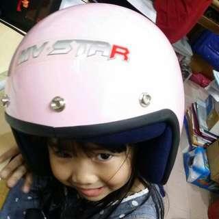 Kid Children Helmet Topi Kanak Kanak Pink Merah Jambu Sirim