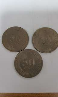 1975 Sg 50 Cents