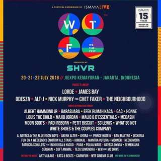 WE THE FEST 2018 TICKET EARLY ENTRY