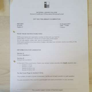 Common Tests & Exams Papers